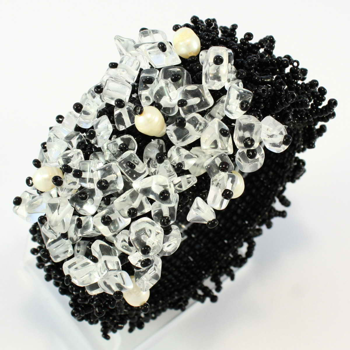 edles designer armband echte perlen keramic beads handarbeit b071 ebay. Black Bedroom Furniture Sets. Home Design Ideas